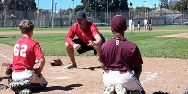 SMBA Catchers Coach Dalton Blumenfeld