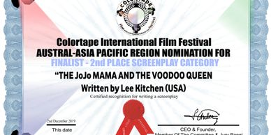 The JoJo Mama and the Voodoo Queen screenplay at  Colortape International Film Festival  Australia.