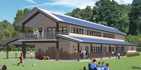 East Point's Georgia Soccer Park Pavilion will feature sustainable enhancements.
