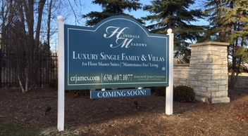 Marketing Signage in Hinsdale, IL.
