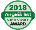 We did receive a Super Service Award from Angie's list but is that a good thing?