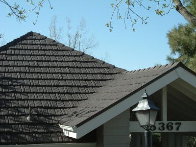 Stone Coated Metal Roofing on a home here in Montana