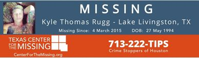20 year old Kyle Rugg Missing since May 4th 2015