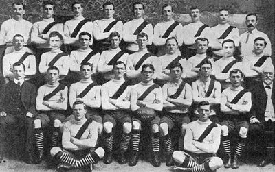 The South Melbourne team which won the 1909 VFL premiership.