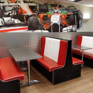 Party food and all your refreshment needs at the Pit Stop cafe at JDR Karting Gloucester