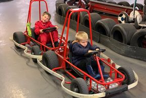Brothers karting on racing rascals @ JDR Karting Gloucester