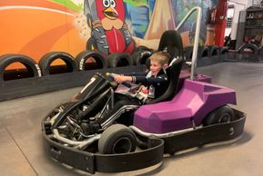 Kart driving for ages 6+ on the electric cadet karts in Gloucester