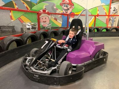 6yr old Archie enjoying his karting session in the new electric cadet karts