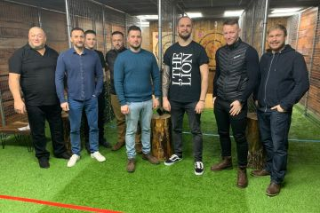 Stag Do Axe Throwing at AxePlay in JDR Karting Gloucester
