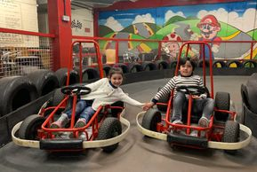 Happy children karting on racing rascals @ JDR Karting Gloucester