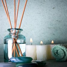 Spa candles and infuser