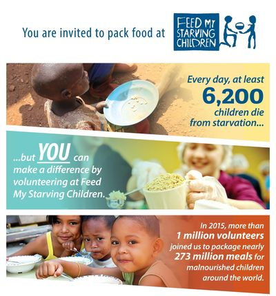 Feed My Starving Children 2nd Monday of each month volunteer