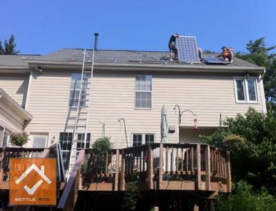 Roof repair and solar inspection for home seller, Lanham, Maryland.