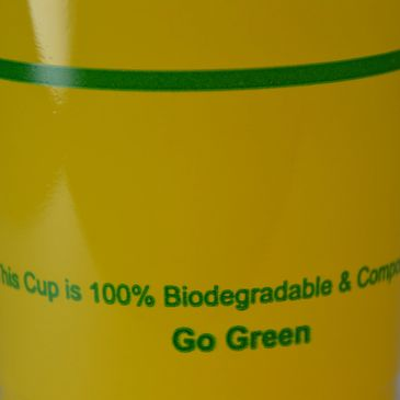 Al of our Cold Cups & Hot cups are Compostable and made from PLA!