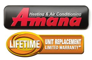 Amana Lifetime warranty badge