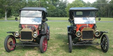 Ernie Spittler's 1914 Roadster and Jacque White's 1913 Touring