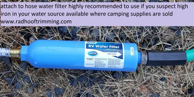 Hose end RV water filter