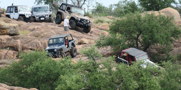 Jeeps at Wolf Caves