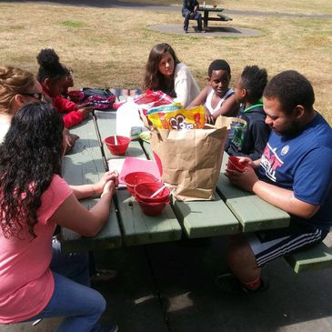 Natalie Weaver from Multnomah County came to speak to the youth at 2018 Straightway Summer Camp at W