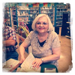 Retired teacher Dianne H. Lundy, enjoying writing as her second career at her first book signing.