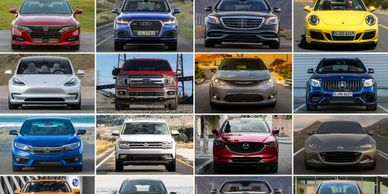 Various types of autos and cars