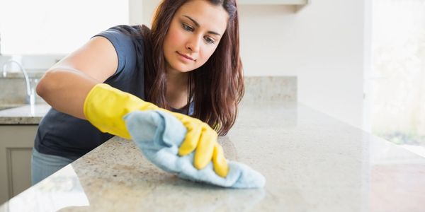 Cleaning Stone Counter With Microfiber