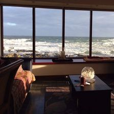 Pew with a View. Seafront  Cottages luxury holiday accommodation , Pitullie, Aberdeenshire Scotland.