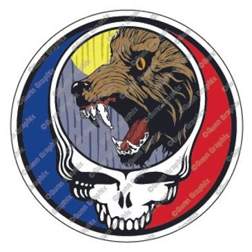 Dire Wolf, Grateful Dead, Dead & Company, stickers, t-shirts, posters