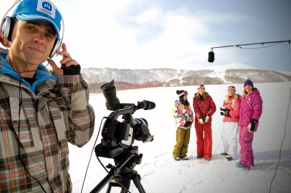Filming in Powder TV in Niseko Japan 2008