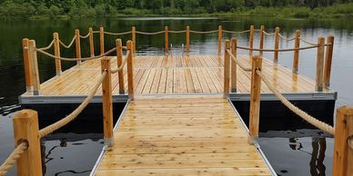 Rope dock rail