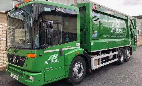 About Us - Wilrose Environmental Ltd.  Dustcart fleet for commercial waste collection.
