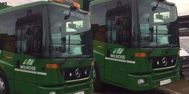 Fleet of Dustcarts for Commercial Waste Collection.  Wilrose Environmental ltd business waste.