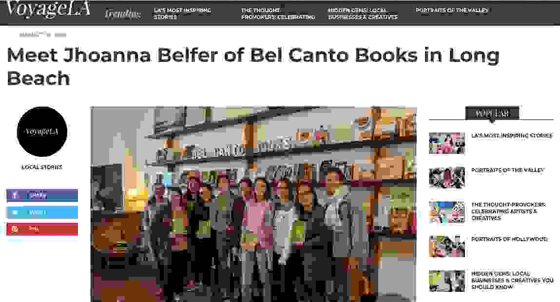 Members of Long Beach-founded Burning Issues Book Club with Bel Canto Books owner Jhoanna Belfer