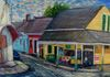 Frady's Grocery, oil, 16x20 done on site