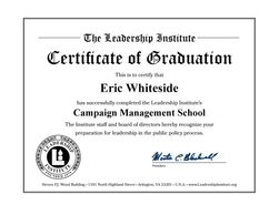 Eric Whiteside Graduate of Leadership Institute