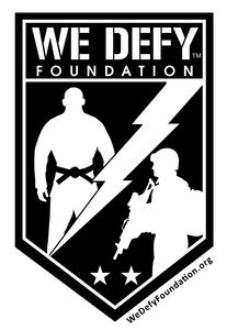 We Defy Foundation logo sponsor for All Hail Hailey Cowan LFA 63