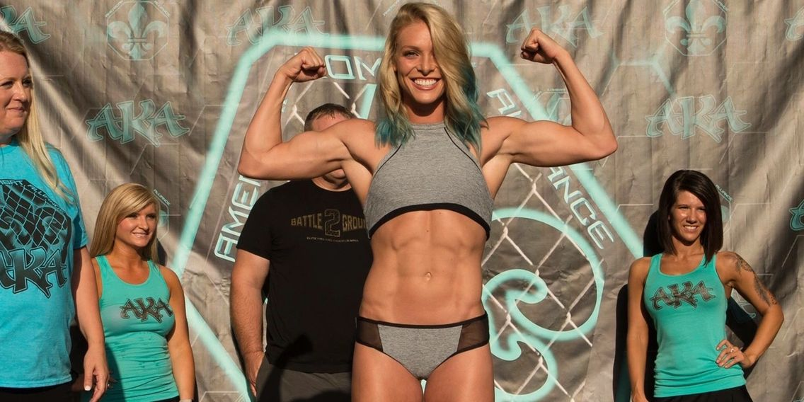 Hailey Cowan at Weight In for AKA Rite of Passage 1
