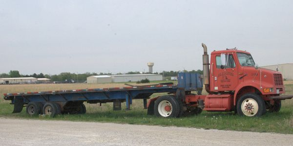 1995 International truck and 1996 Blair trailer