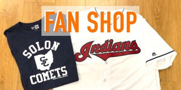 fan shop t-shirt and indians baseball jersey
