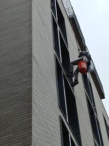 Bi-yearly high rise window cleaning of the Dairy Block in Denver.