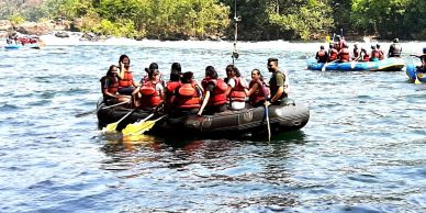 River Raft boating is a boat ride in Dandeli Kali River