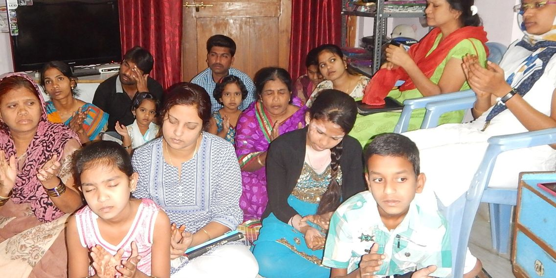 Indian House Church praying and worshipping the Lord