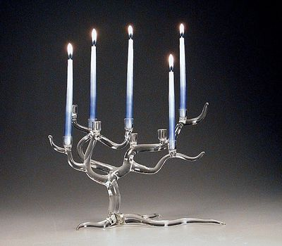 Salusa Glass Tree of Life Menorah