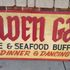 Golden Gate Chinese & Seafood Buffet or Menu, Dinner & Dancing.  Hand-carved, old, wooden