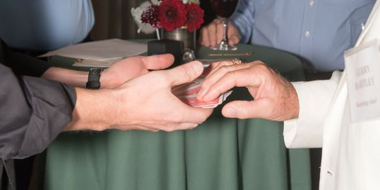 card tricks magic at wedding reception party