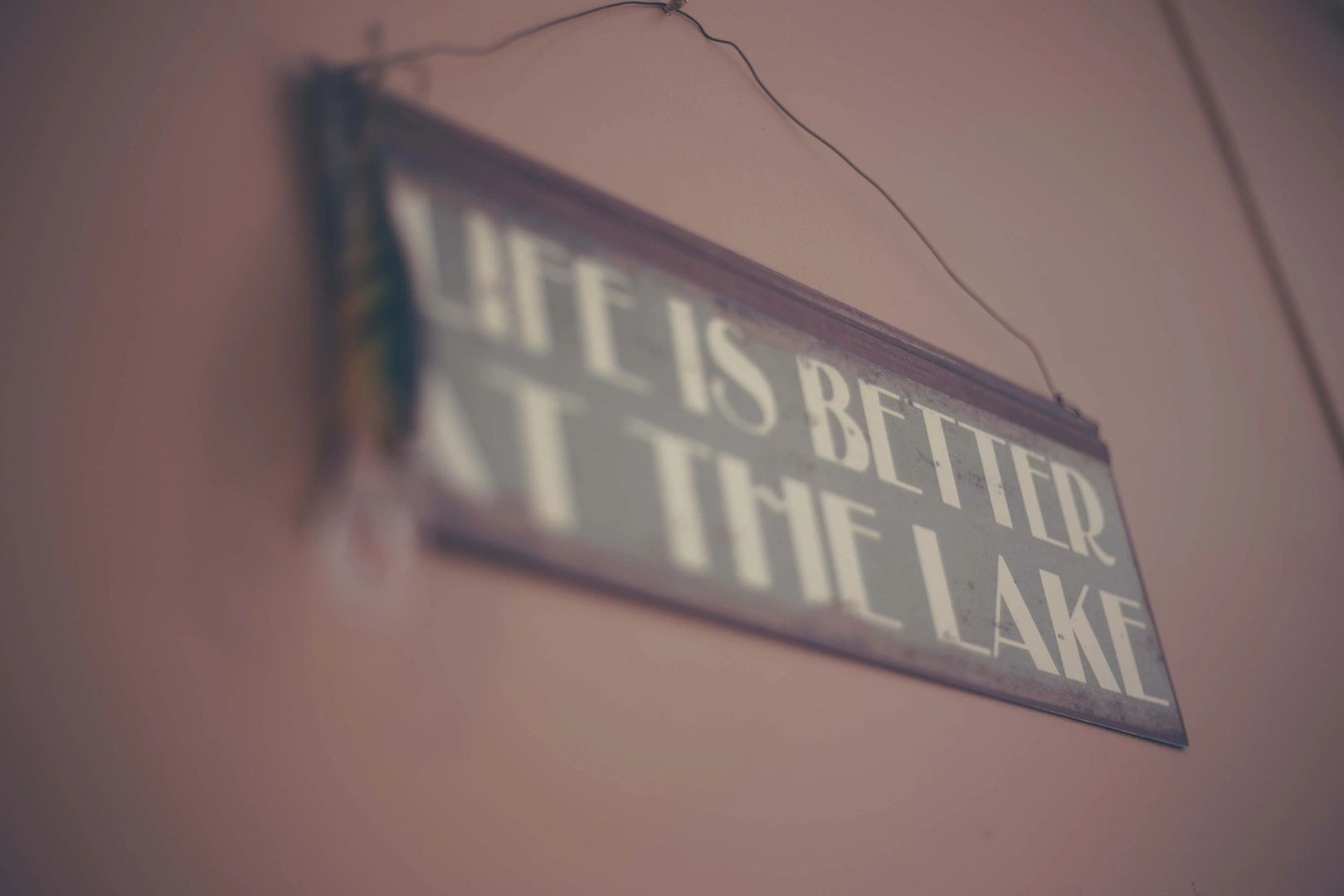 Life Is Better At The Lake Sign Hanging In A Lake Benton Minnesota Cabin