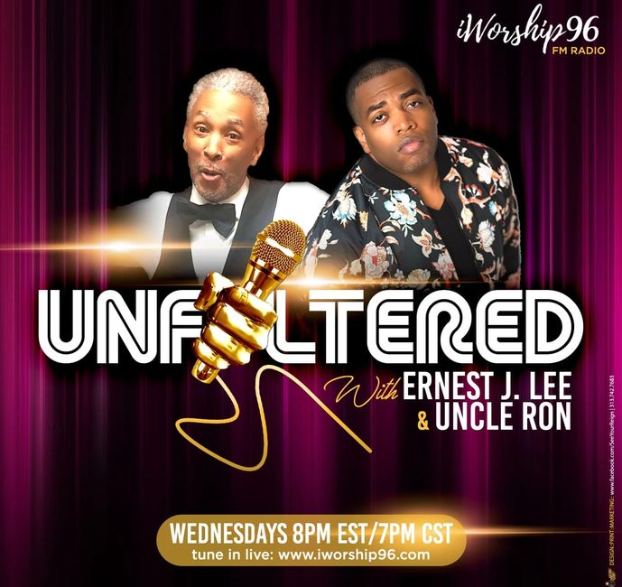 The OFFICIAL LOGO of Unfiltered w/Ernest J. Lee & Uncle Ron