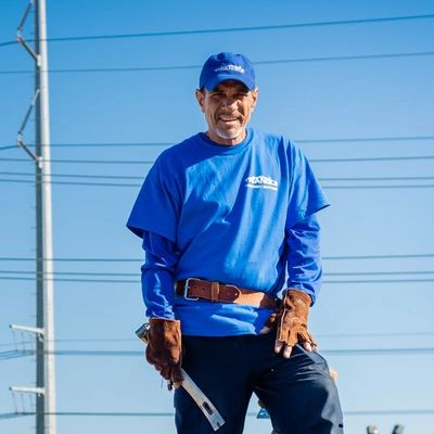 Tracy is one of our roof mechanics who makes sure your roof repairs are done right!