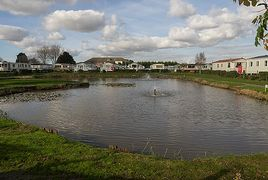 Fishing lake at Towervans in Mablethorpe.