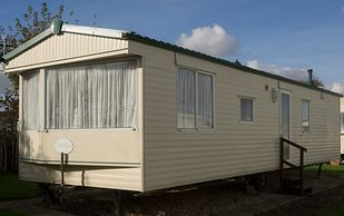 Caravan on Towervans in Mablethorpe. Lincolnshire